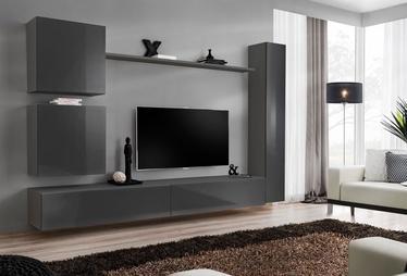 Dzīvojamās istabas mēbeļu komplekts ASM Switch VIII Graphite