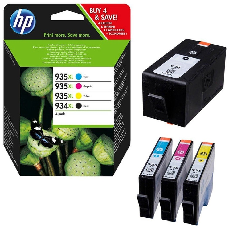 HP 934XL/935XL Ink Cartridge X4E14AE Cyan/ Magenta/ Yellow/ Black 4 Pack