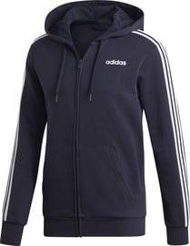 Adidas Essentials 3 Stripes Fleece Hoodie DU0475 Blue 2XL