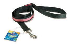 Record LED Leash Black/Pink