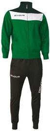 Спортивный костюм Givova Campo Tracksuit Black/Green 3XS
