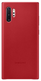 Samsung Leather Back Case For Samsung Galaxy Note 10 Plus Red