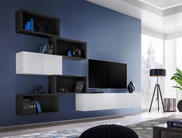 Dzīvojamās istabas mēbeļu komplekts ASM Blox VIII Black/White