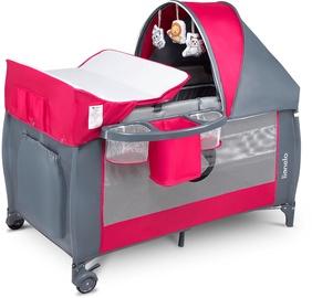 Ceļojuma gultiņa Lionelo Sven Plus Pink Rose