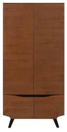 Black Red White Madison Wardrobe Brown Oak