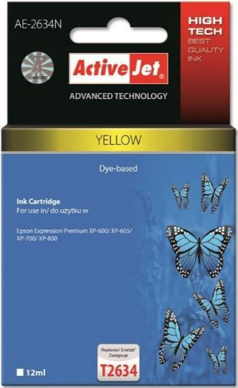 ActiveJet AE-2634N Cartridge 12ml Yellow