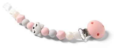 Knupīša turētājs BabyOno Dummy Ribbon Pink/Grey