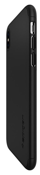 Spigen Thin Fit 360 Cover + Tempered Glass For Apple iPhone XS Max Black