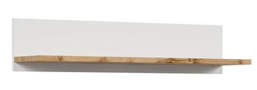 Black Red White Holten Wall Shelf 106cm Wotan Oak/White
