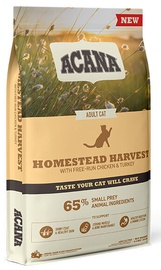 Acana Homestead Harvest Adult Cat Food With Chicken & Turkey 4.5kg