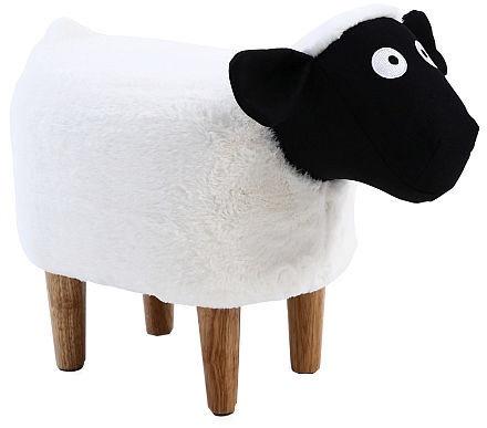 Pufs Signal Meble Olga Sheep White, 34x28x55 cm