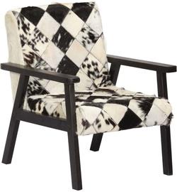 Atzveltnes krēsls VLX Armchair 247645, balta/melna, 61 cm x 70 cm x 74 cm
