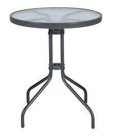 Садовый стол Home4you Bistro 20561, серый, 60 x 60 x 70 см