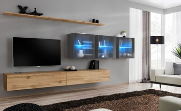 ASM Switch XVII Wall Unit Wotan Oak/Graphite