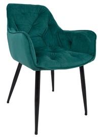 Ēdamistabas krēsls Home4you Brita, melna/zaļa