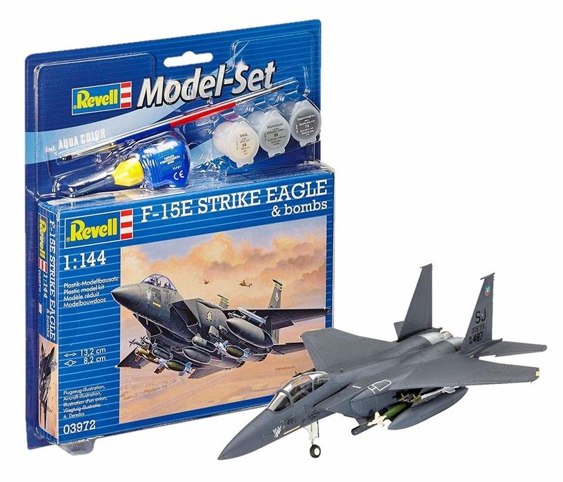 Konstruktors Revell Model Set F 15E Strike Eagle And Bombs 1:144 63972R