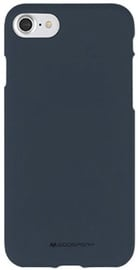 Mercury Soft Feeling Jelly Back Case For Apple iPhone X Midnight Blue