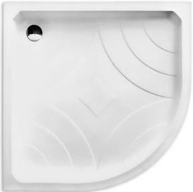 Roth Hawaii P Shower Bath 900x900mm White