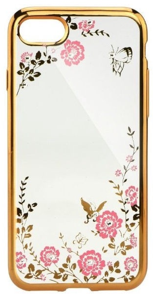Mocco Electro Diamond Back Case For Samsung Galaxy A8 Plus A730 Transparent/Gold
