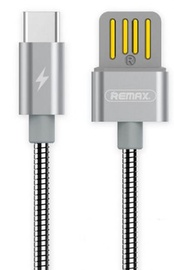 Remax Serpent USB To USB Type-C Cable Durable Metal Braid 1m Silver