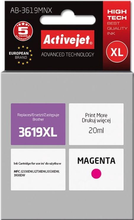 ActiveJet Cartridge AB-3619MNX For Brother 20ml Magenta