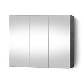 Vannas istabas skapītis Riva SV90-3A, pelēka, 14.5 x 88 cm x 66.2 cm