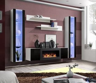 Dzīvojamās istabas mēbeļu komplekts ASM Fly M2 Black/White
