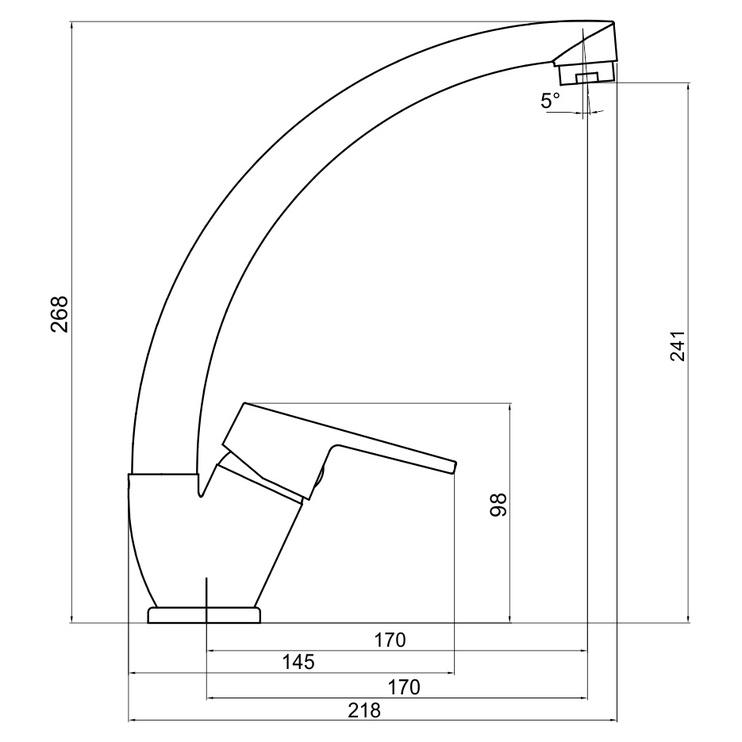 Virtuves maisītājs NEON NEW 93414.0 HIGH (NOVASERVIS)