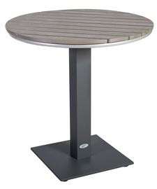 Dārza galds Home4you Larache Beige Black, 70 x 70 x 74 cm