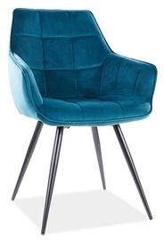 Ēdamistabas krēsls Signal Meble Lilia Velvet, zila