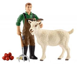 Rotaļlietu figūriņa Schleich Farmer With Goat 42375