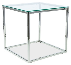 Kafijas galdiņš Signal Meble Hilton B Silver, 550x550x550 mm