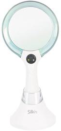 Kosmētiskais spogulis Silk'n MLU1PEU001 White/Blue, ar gaismu, stāvošs, 13.2x26.3 cm