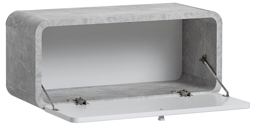 ASM Wally IV Hallway Wall Unit Set Gray/Glossy White