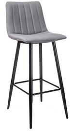 Bāra krēsls Signal Meble Alan H-1 Grey/Black Matte, 1 gab.