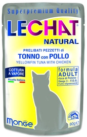 Monge LeChat Natural Pouches With Tuna & Chicken 80g
