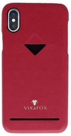 Vix&Fox Card Slot Back Shell For Apple iPhone XR Red