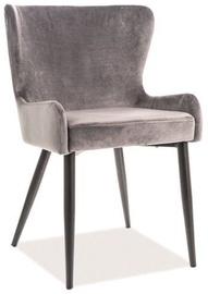 Ēdamistabas krēsls Signal Meble Passo II Grey/Black, 1 gab.