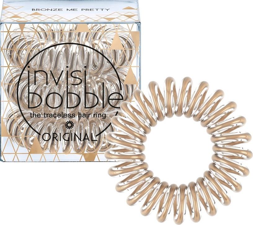 Invisibobble Hair Rings 3pcs Bronze Me Pretty