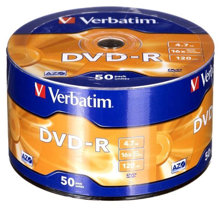 Verbatim DVD-R 4.7GB 16x 50pcs