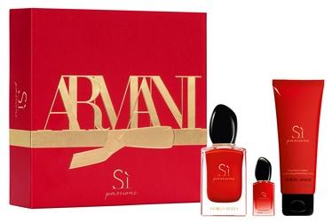 Набор для женщин Giorgio Armani SI Passione 50 ml EDP + 75 ml Body Lotion + 7 ml EDP