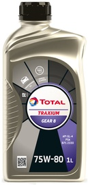 Transmisijas eļļa Total Traxium Gear 8 75W - 80, transmisijas, vieglajam auto, 1 l