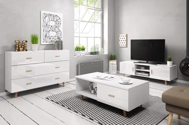 Dzīvojamās istabas mēbeļu komplekts Vivaldi Meble Sweden White
