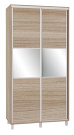 Skapis Bodzio SZP120W Latte, 120x60x240 cm, with mirror