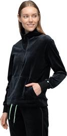 Audimas Cotton Velour Half-Zip Sweatshirt Black L