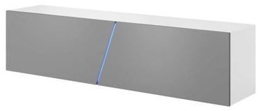 ТВ стол Vivaldi Meble Slant 160, белый/серый, 1600x400x340 мм