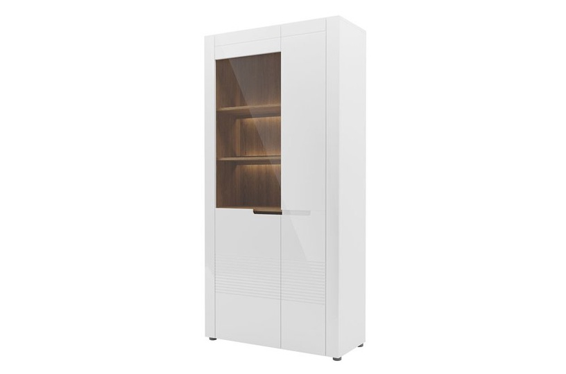 Szynaka Meble Glass Display Cabinets Belfort 12 White