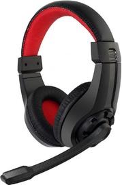 Spēļu austiņas Gembird GHS-01 Black/Red
