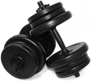 Сборные гантели SportVida Adjustable 6 Disc Dumbbell Set Black 2x10kg