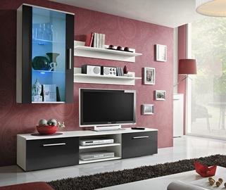 Dzīvojamās istabas mēbeļu komplekts ASM Galino E White/Black Gloss